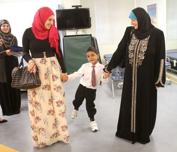 6-year-old Palestinian boy walks for first time, thanks to surgery at Lucile Packard