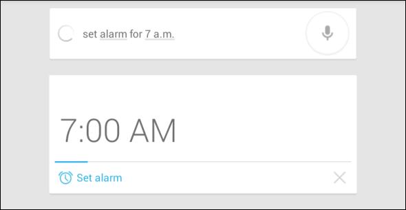 Google Now Alarm option