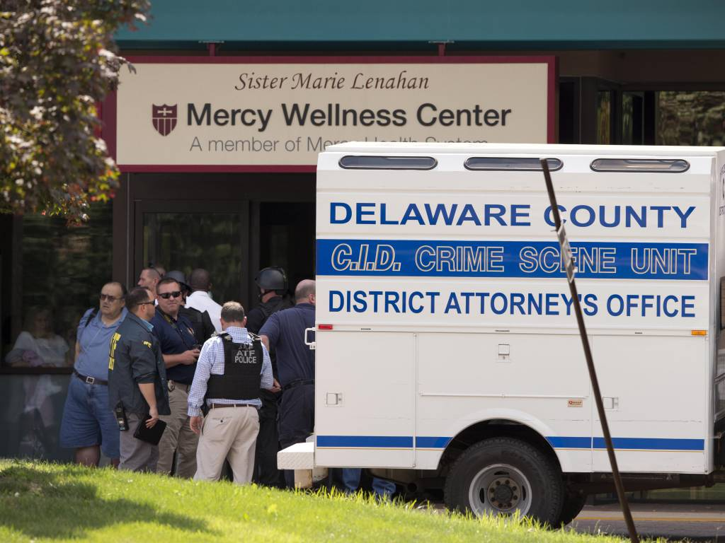 A female caseworker was killed and a doctor was shot in Philadelphia
