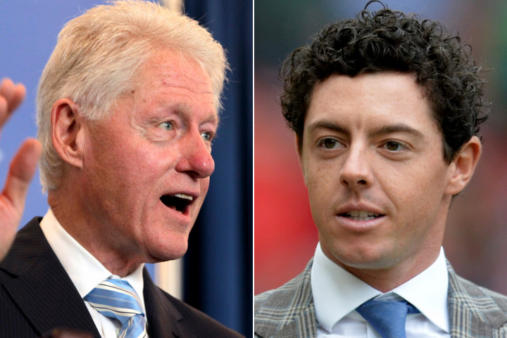 Rory McIlroy Had Lunch with Former U.S. President Bill Clinton