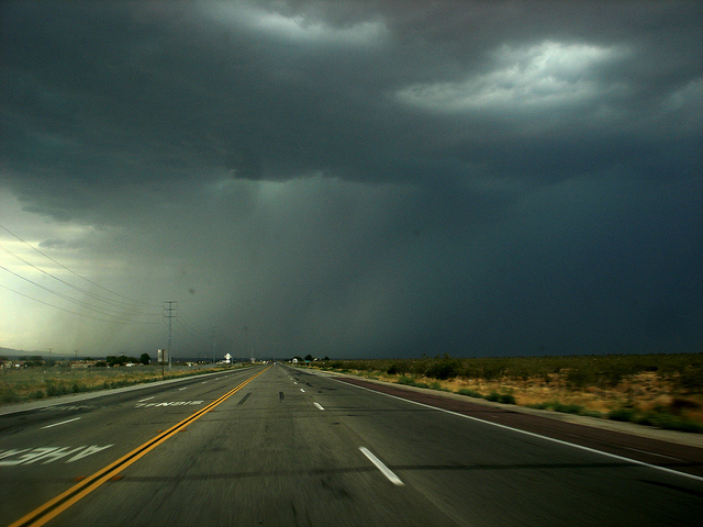 thunderstorms violently hit Southern California