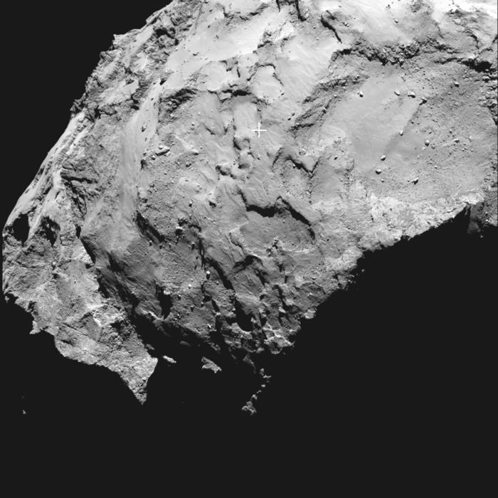 ESA chose Rosetta landing site