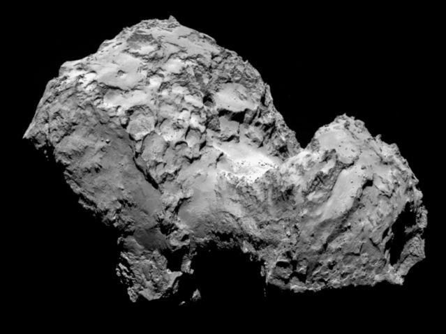 A handout photo of comet 67P/Churyumov-Gerasimenko by RosettaÕs