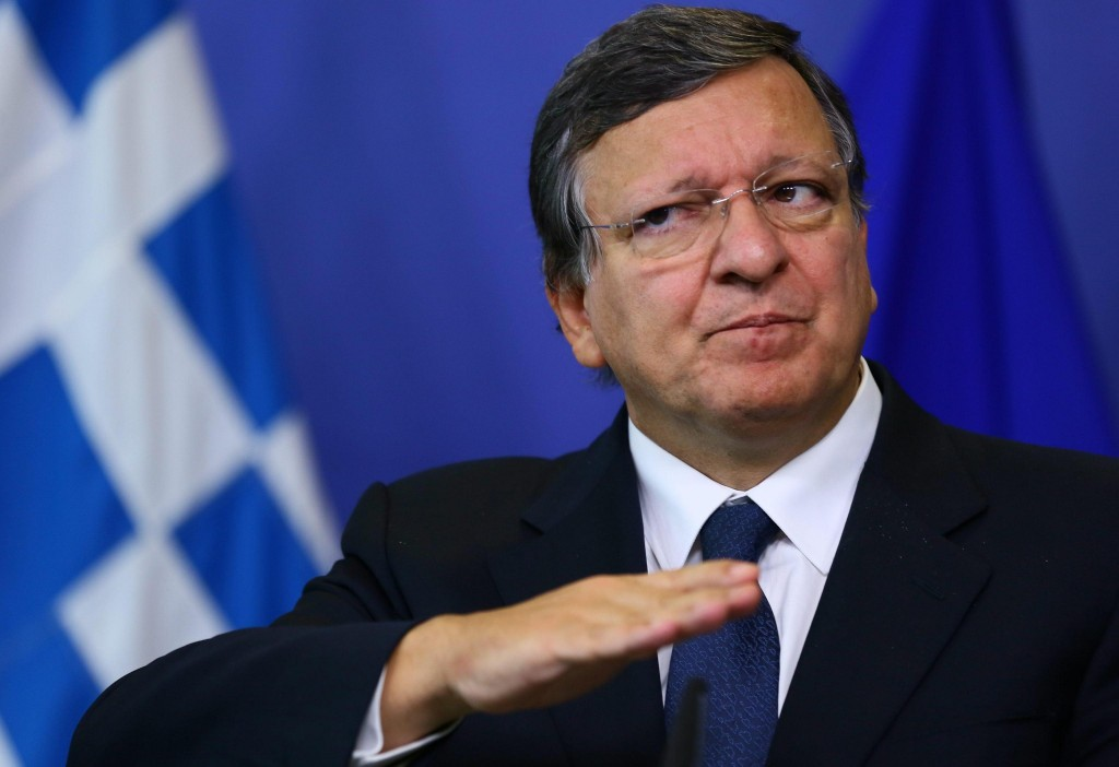 Prime Minister of Greece meets European Commission President Jose Manuel Barroso in Brussels