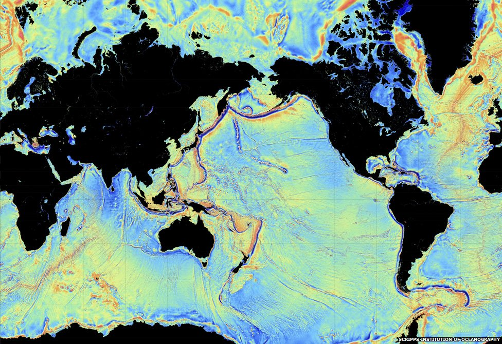 Underwater ocean flor mapped