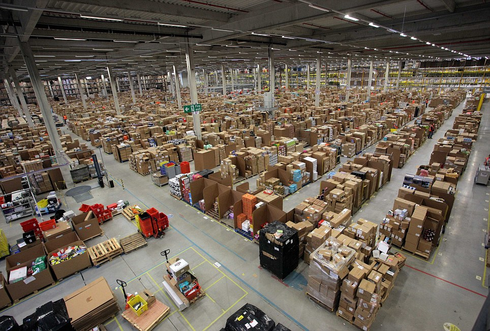 Amazon Fulfilment Centre near Swansea south Wales opens its doors to the media during their pre-Christmas order rush
