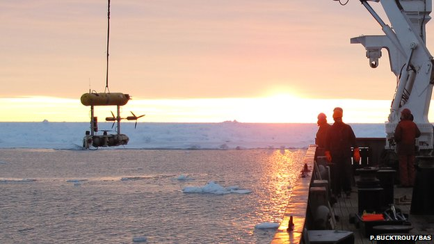 Antarctic sea ice thickness
