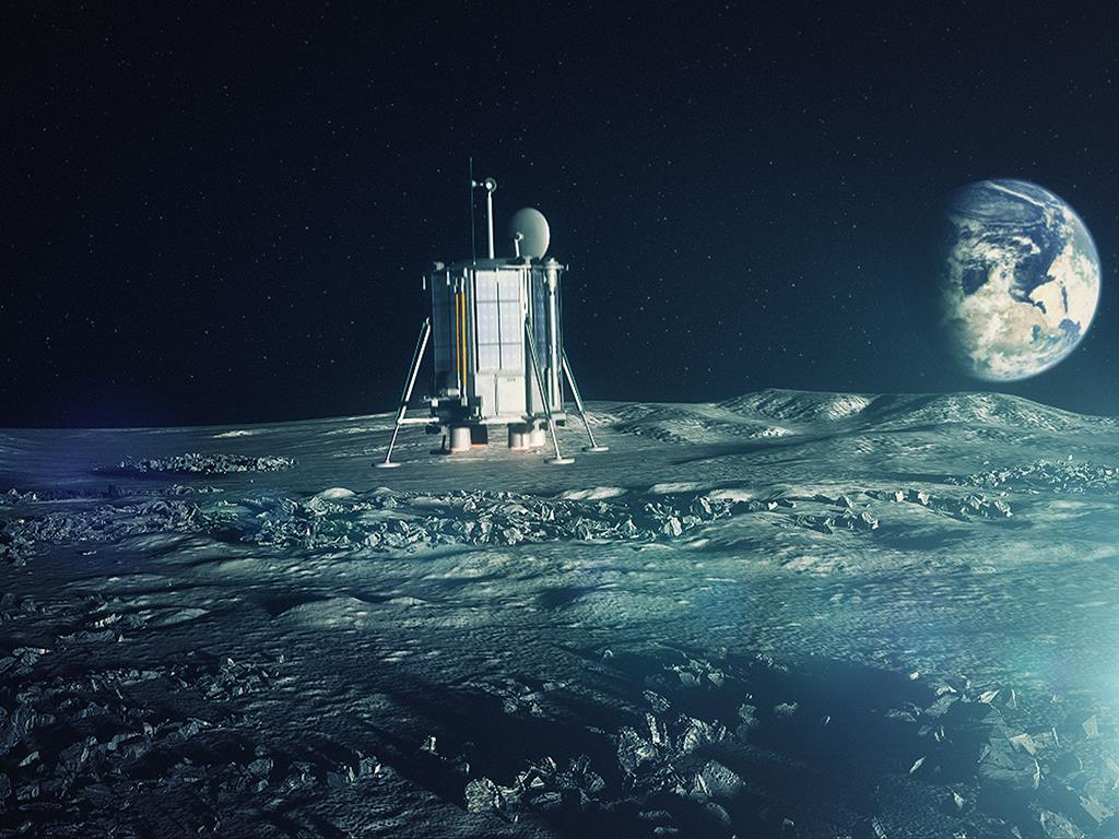 moon landing mission funded by people