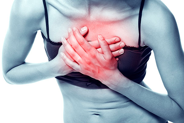 reduced heart blood flow in stressed women