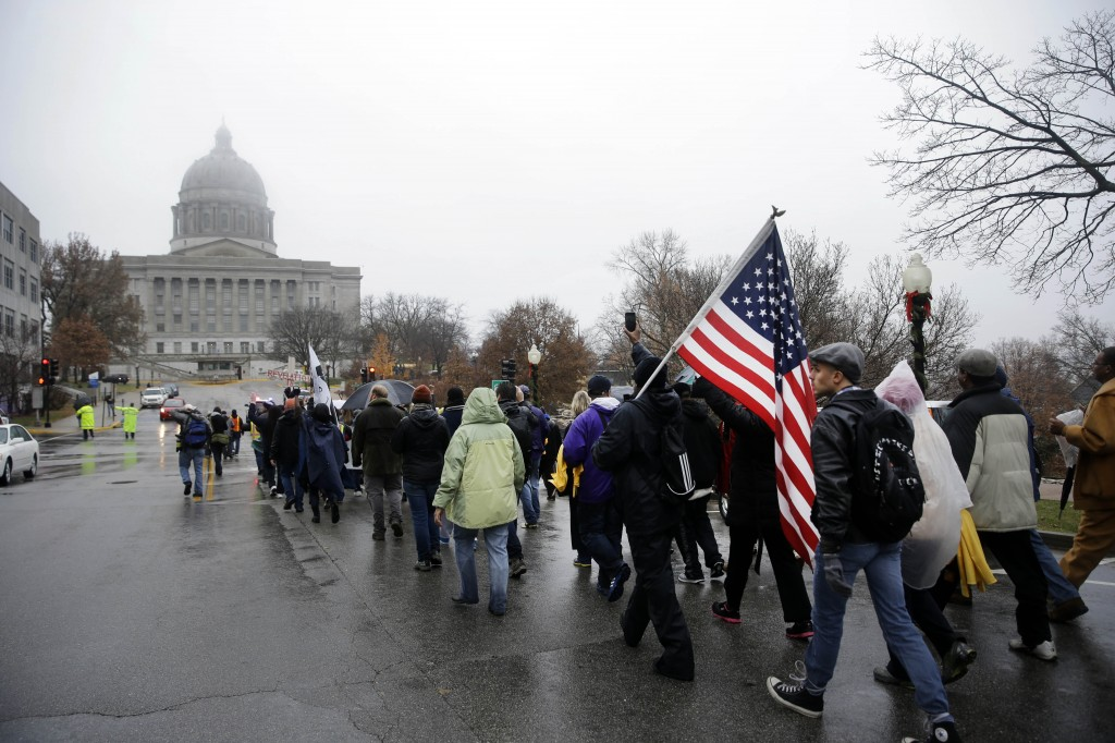 130-mile march protesting the death of Michael Brown
