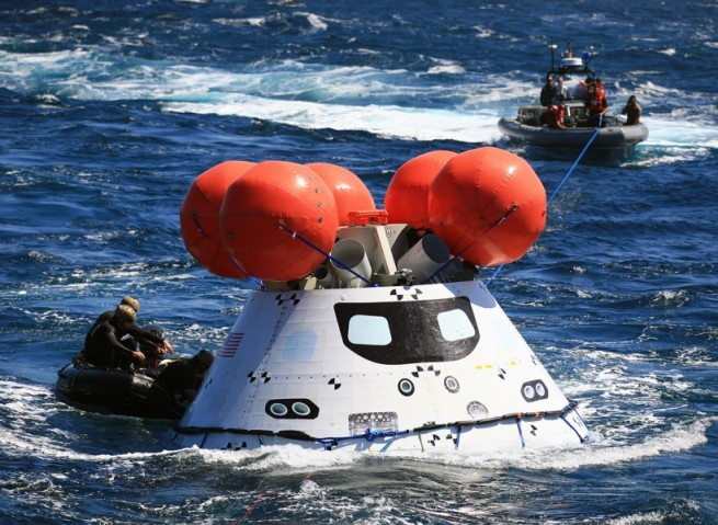 Orion Aces First Flight Test