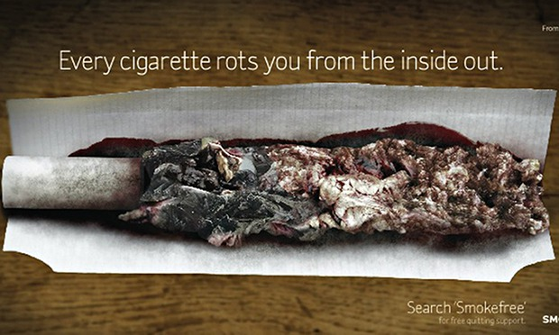 cigarettes rot the body from the inside