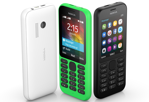 Microsoft announced the release of its Nokia 215 feature phone