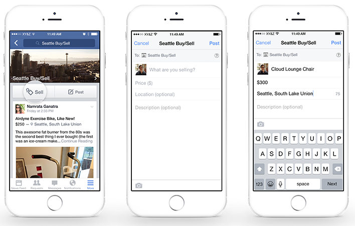 Facebook Adds a New Feature for Selling