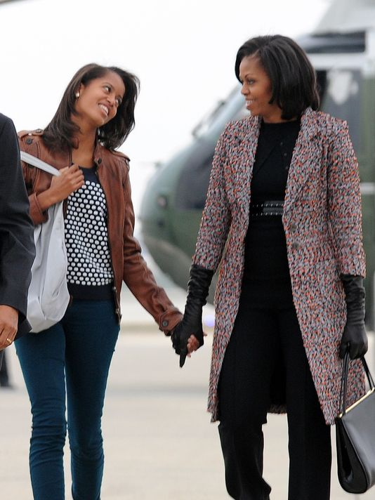 Michelle and Malia Obama Were Seen in New York, Taking  Personal Tours of Universities