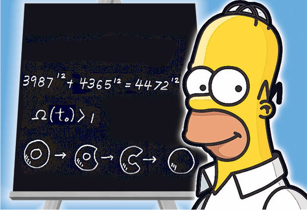 Homer Simpson Predicts the Mass of Higgs Boson