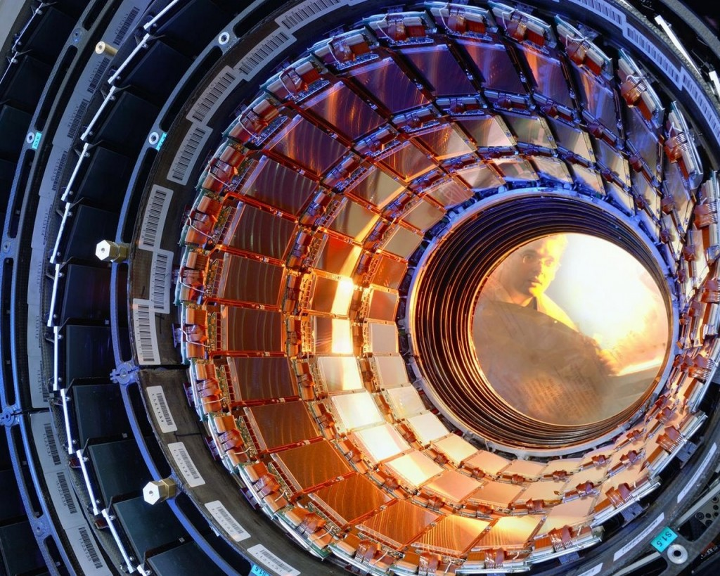 "alt=""scientists working at the large hadron collider"""