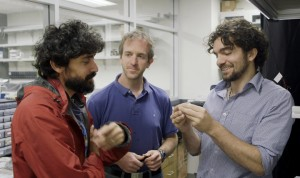 """alt=""""stanford students presenting the first water-based computer"""""""