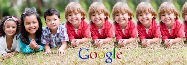 "alt=""children comparison showing google worforce is predominantely white"""