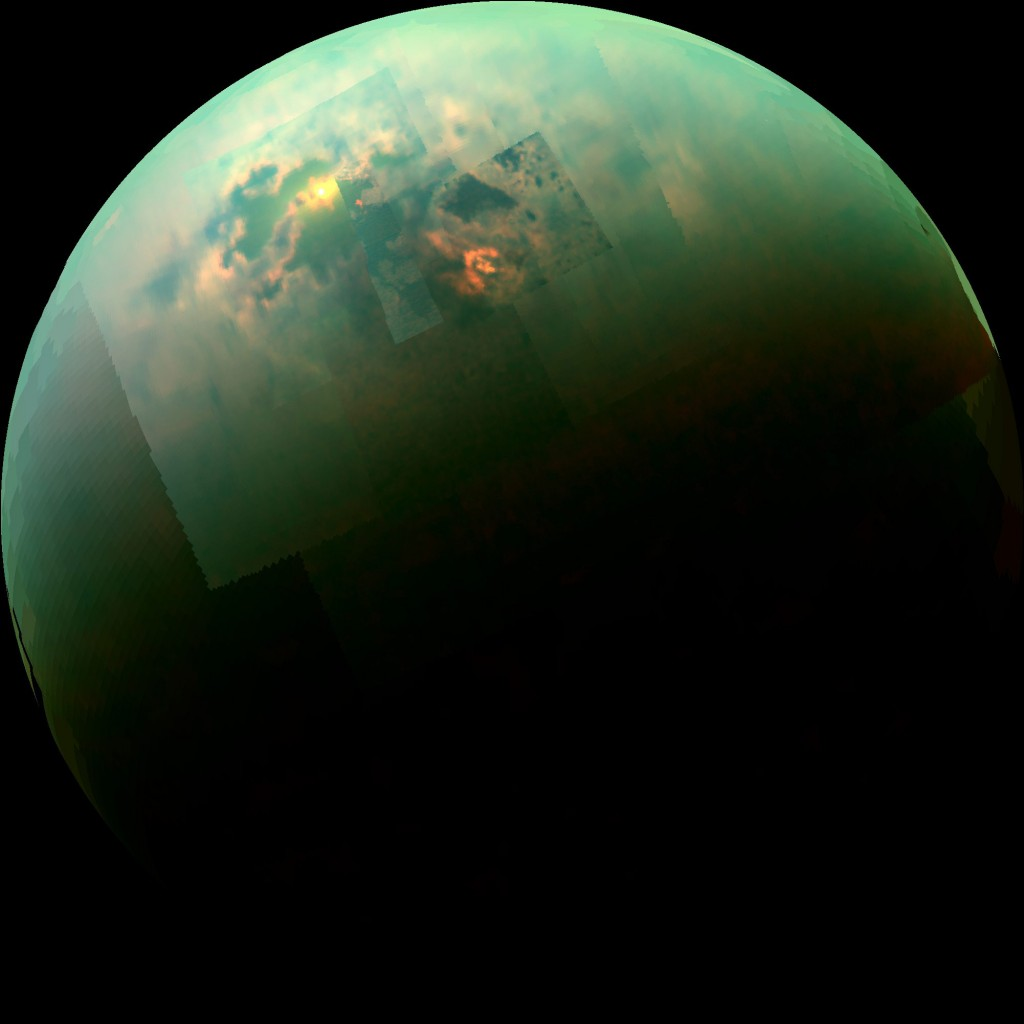 """NASA Cassini probe identifies polar winds on Saturns' moon Titan"""