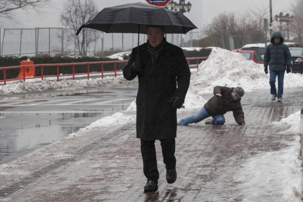 """alt=""""Old Man Slipping on Ice during Winter"""""""