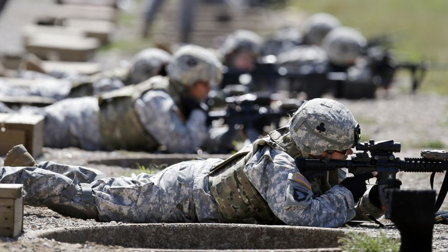 """""""soldiers prying on the front"""""""