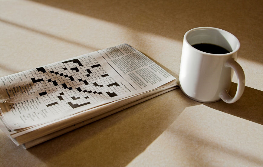 "alt=""Cup of Coffee and Crosswords"""