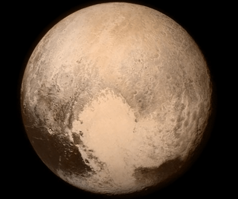 """alt=""""First Shot of Pluto's Surface"""""""