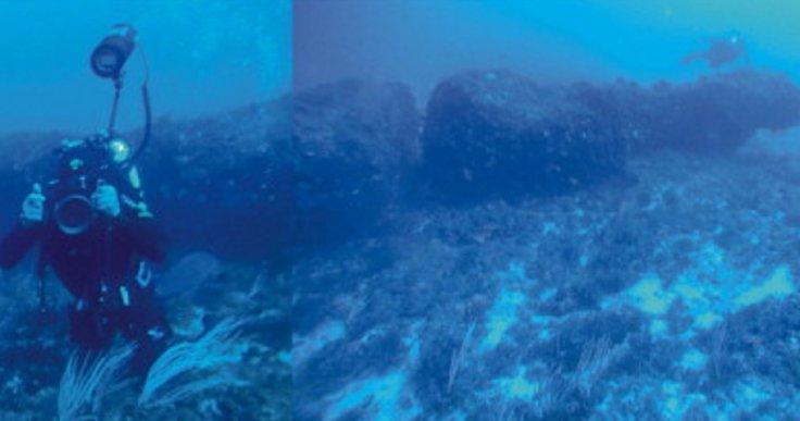 """ancient monolith under the mediterranean sea"""