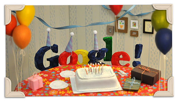 """""""Google 17th anniversary doodle"""""""