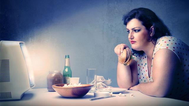 """""""woman eating at night"""""""
