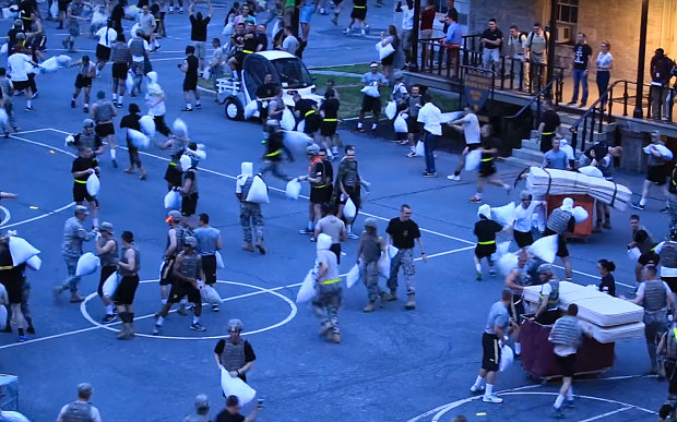 """West Point Annual Pillow Fight Tradition"""