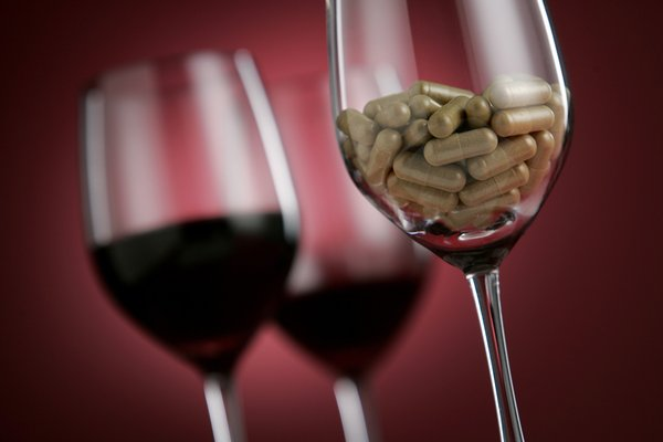 """alt=""""Still life for a story on the hyping of Resveratrol pills, shoot with wine glasses"""""""