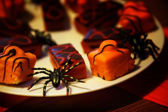 """plate of halloween treats"""