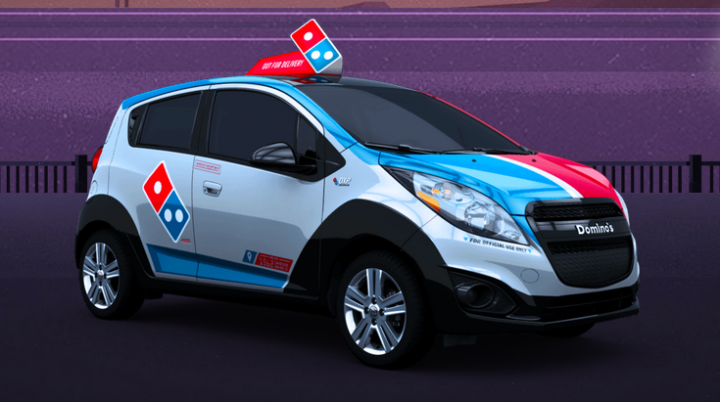 "alt=""Domino's Launches New Fleet of Delivery Cars"""