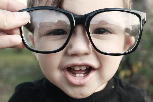 "alt=""adorable kid wears large glasses"""