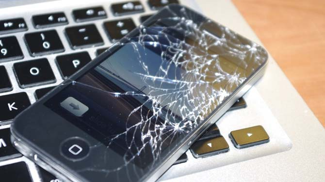 """alt=""""Smashed iPhone Screen"""""""