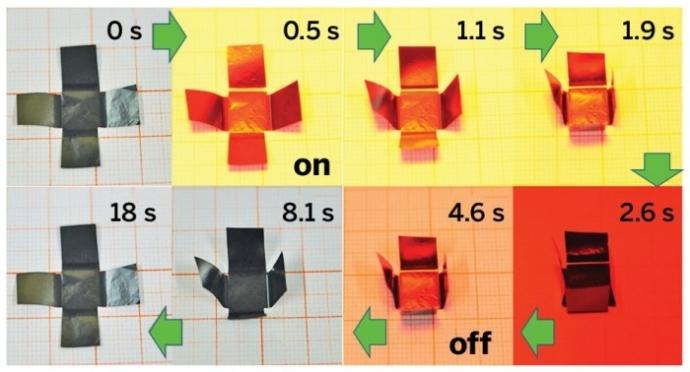 """graphene paper that folds itself"""