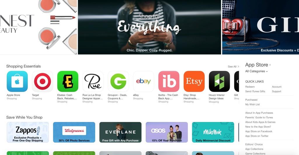 "alt=""App Store shopping section"""
