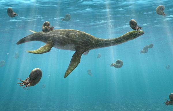 """plesiosaur swimming like a penguin"""
