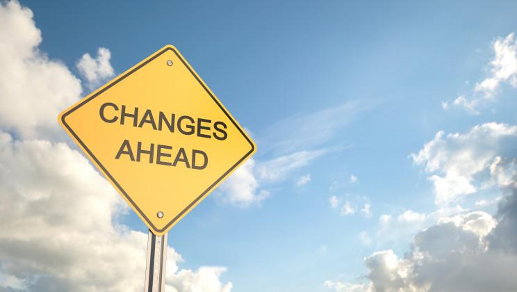 """alt=""""Changes Ahead , Road Warning Sign , 3d render"""""""