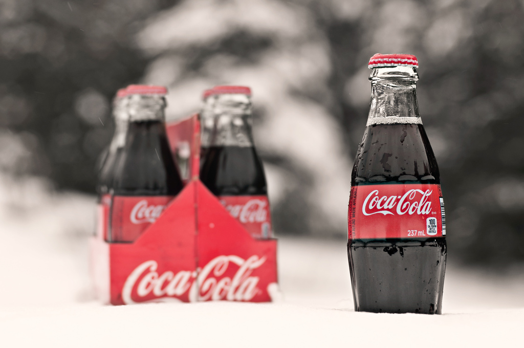 "alt=""Coke Bottles in the Snow"""