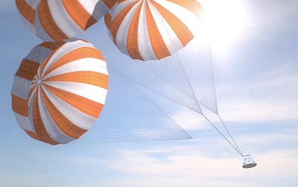 spacex parachutes