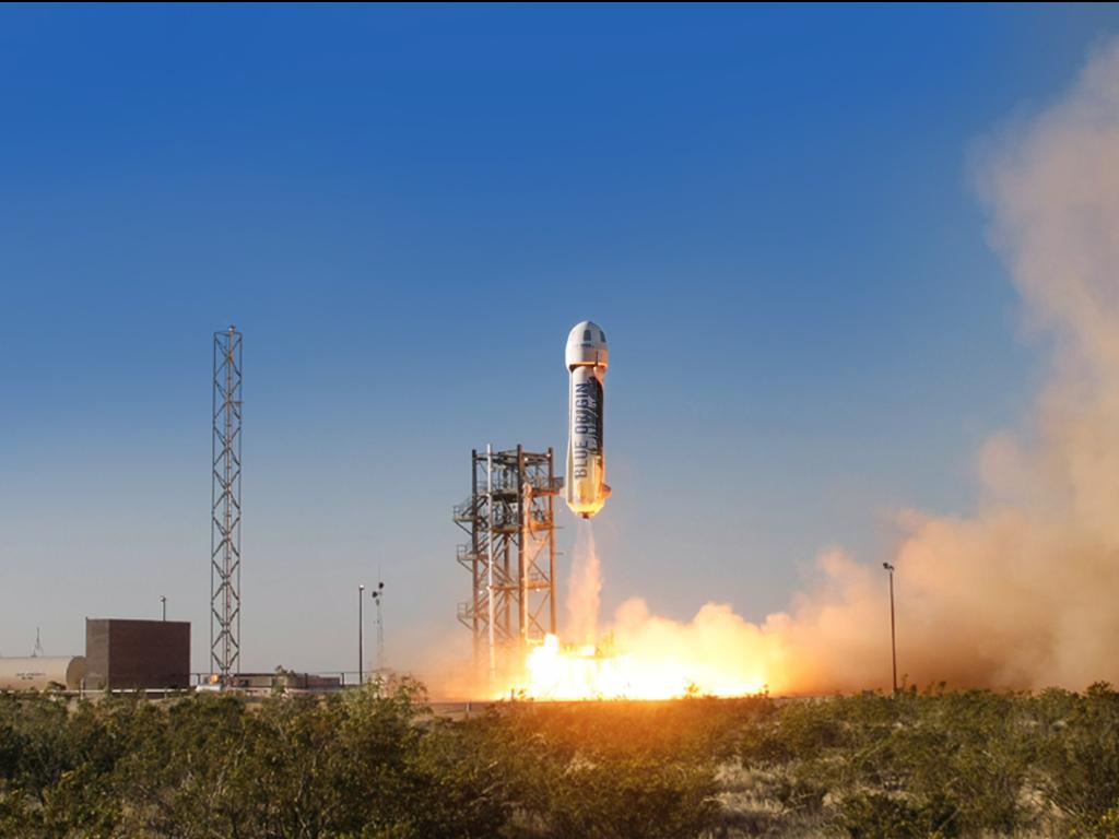 "alt=""Blue Origin LLC Lands Reusable Rocket"""