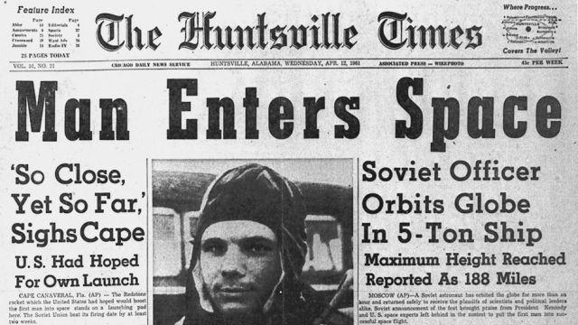 "alt=""Yuri Gagarin Newspaper"""