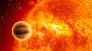 alt =baby exoplanet orbits star