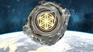Asgardia hovering Earth