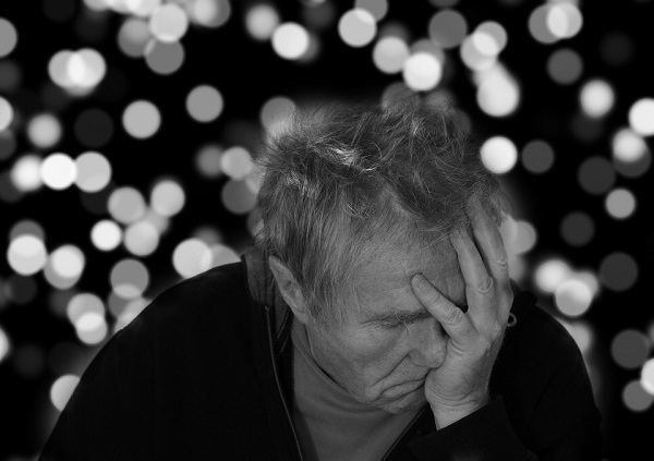 elderly man with Alzheimer's disease