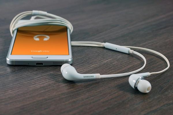 Google Play Music app on a phone