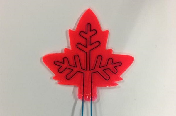 red artificial leaf